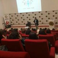 Photo taken at BOU Konferans Salonu by Enes Y. on 11/11/2015