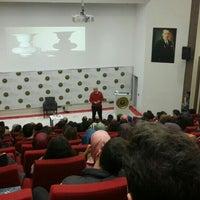 Photo taken at BOU Konferans Salonu by Enes Y. on 12/2/2015