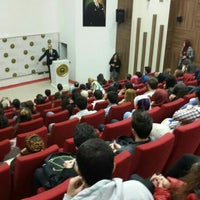 Photo taken at BOU Konferans Salonu by Enes Y. on 11/18/2015