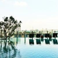 Photo taken at Millennium Hilton Bangkok by Aor A. on 11/16/2013