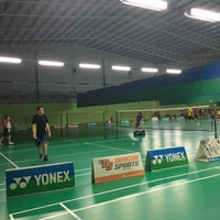 Photo taken at Champion Badminton Court by Li Y. on 5/1/2018