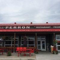 Photo taken at Chez Perron Restaurant Boutique by Marie-Julie G. on 7/15/2014