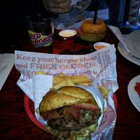 Photo taken at Red Robin Gourmet Burgers by Jeff C. on 4/20/2013
