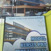 Photo taken at Pejabat Agama Islam Daerah Kuantan by Akma H. on 4/9/2016