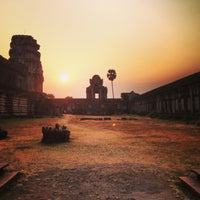 Photo taken at Angkor Wat by Полина К. on 3/6/2013