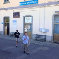 Photo taken at Stazione Barga-Gallicano by mirco t. on 5/18/2014