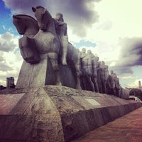 Photo taken at Monumento às Bandeiras by Bárbara S. on 7/14/2013