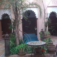 Photo taken at Riad Hassina Nakhil by Maria on 4/22/2013