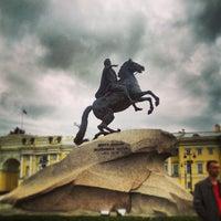 Photo taken at Bronze Horseman by Svetlana on 5/26/2013