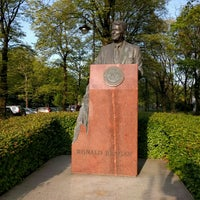 Photo taken at Pomnik Ronalda Regana by Igor V. on 5/1/2016