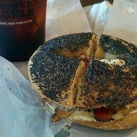 Photo taken at Bruegger's by sunny on 6/29/2015