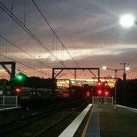 Photo taken at Strathfield Station (Platforms 1 & 2) by Donny L. on 7/10/2016