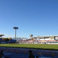Photo taken at Todoroki Athletics Stadium by Takao O. on 11/17/2012