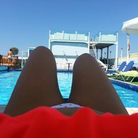 Photo taken at Poseidon Hotel by Vasia G. on 6/26/2013