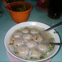 Photo taken at Bakso Amat by liana h. on 12/8/2012