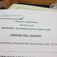 Photo taken at Camera di Commercio di Parma by Alberto E. on 4/30/2013