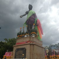 Photo taken at Statue of Queen Chamadevi by Ploy C. on 6/9/2013