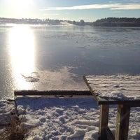 Photo taken at Hålandsvannet by Giuseppe P. on 1/17/2016