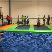 Photo taken at Rebounderz by Lucy S. on 2/16/2013