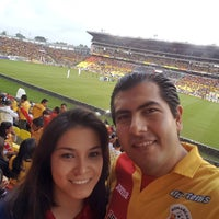 Photo taken at Estadio Morelos VIP by Alberto Z. on 8/21/2016