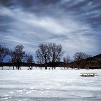Photo taken at Rockland Lake State Park by Dinesh P. on 2/23/2014