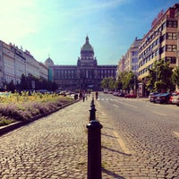 Photo taken at Wenceslas Square by Ondřej D. on 7/22/2013