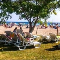 Photo taken at marika beach by Mutlu I. on 7/8/2017