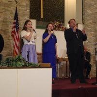 Photo taken at First Christian Church by Rafaelito F. on 8/10/2014