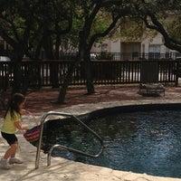 Photo taken at Village Of Shavano Pool by Rhiannon E. on 3/29/2013