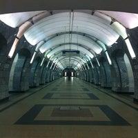 Photo taken at metro Chkalovskaya by Anastasiya G. on 10/28/2012