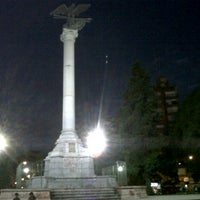 Photo taken at Plaza Italia by Juan Pablo M. on 1/12/2013