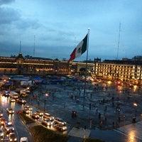 Photo taken at Plaza de la Constitución (Zócalo) by Cesar G. on 6/30/2013