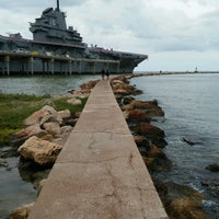 Photo taken at Beach by the USS Lexington by Valö B. on 10/20/2016