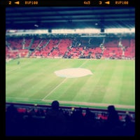 Photo taken at Old Trafford by Ken T. on 2/10/2013
