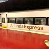 Photo taken at Arlanda Express (Arlanda S) by G on 3/3/2013