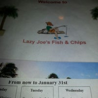 Photo taken at Lazy Joe's Fish & Chips by Shai S. on 1/11/2013