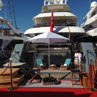 Photo taken at Cannes International Boat & Yacht Show by Engin Y. on 9/7/2016