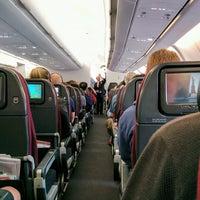Photo taken at Qantas Flight QF485 by Julian W. on 4/21/2017
