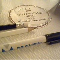 Photo taken at Millennium Hotel Doha by A A. on 12/11/2012