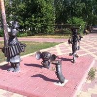 Photo taken at Скульптуры Чебурашка, Крокодил Гена и Шапокляк by Anna M. on 8/16/2014