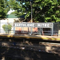 Photo taken at Estación Bartolomé Mitre [Línea Mitre] by  N. on 11/15/2012
