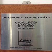 Photo taken at Timavo do Brasil S/A — Indústria Têxtil by Marcelo F. on 2/4/2014