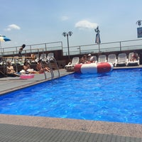 Photo taken at Hamilton Hotel Swimming Pool by geunyoung p. on 7/11/2014