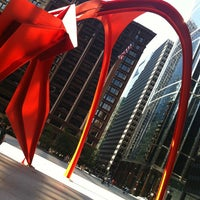 Photo taken at Alexander Calder's Flamingo Sculpture by Todd B. on 7/20/2013