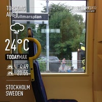 Photo taken at Tvärbanan by Nicole V. on 8/8/2013