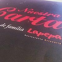 Photo taken at La Pepa Arroz & Bar by Manuel E. on 12/1/2012