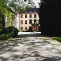 Photo taken at Schlosscafé Lich by Felix G. on 5/14/2015