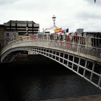 Photo taken at The Ha'penny (Liffey) Bridge by Darshan R. on 5/19/2013
