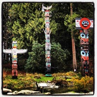 Photo taken at Totem Poles in Stanley Park by iDork g. on 1/17/2013