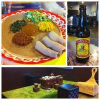 Photo taken at Habesha Restaurant and Bar by Jon M. on 4/19/2013